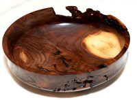 Decorative Baroque Bowl - Black Walnut - Hand Crafted By Don Stevens  ** SEE DESCRIPTION BELOW **