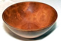 2.5 Gallon Fruit & Salad Bowl - Bradford Pear With Black Walnut Spline - Hand Crafted by Don Stevens  ** SEE DESCRIPTION BELOW **