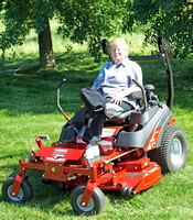 Mary - This is the way to mow the yard!